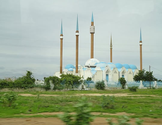 Photo of a mosque in Senegal.