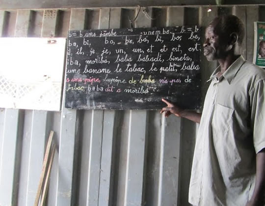 Photo of a Senegalese teacher.